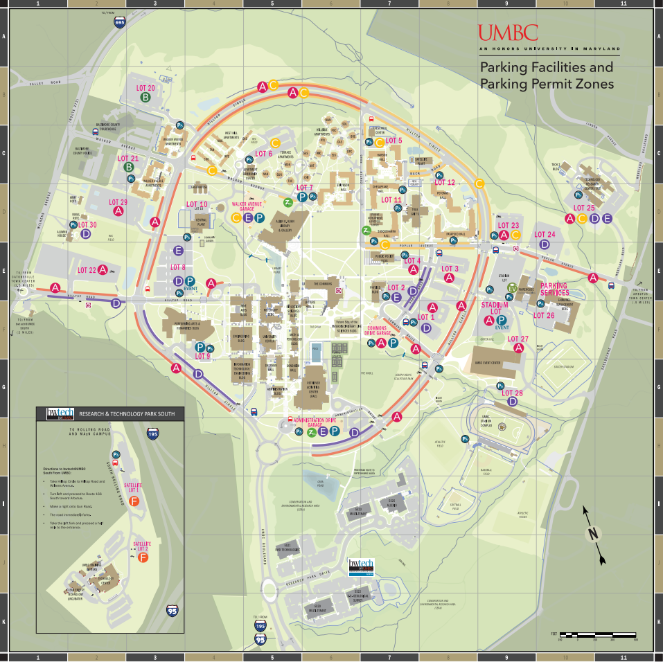 Umbc Parking Map Winter Session Crossover Parking – Grit Going